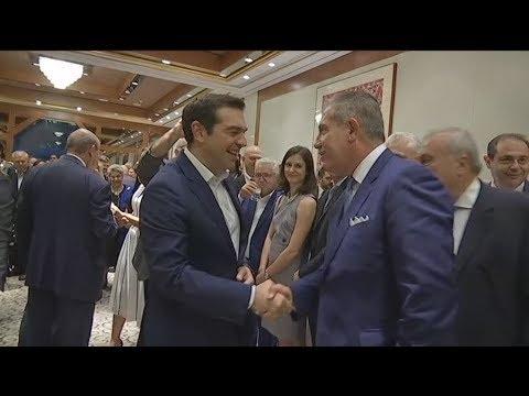 Ο Αλέξης Τσίπρας στο γενικό προξενείο της Ελλάδας στη Νέα Υόρκη