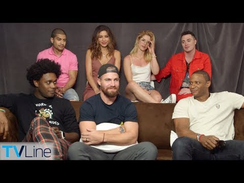 'arrow' Cast Talks Season 7, Jaw-dropping Premiere Moment | Comic-con 2018 | Tvline