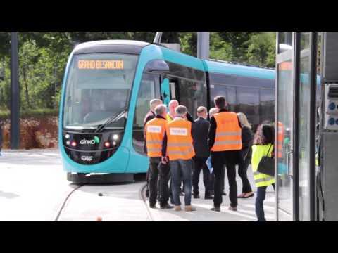 Essais du tramway - Besançon