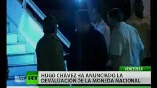 Hugo Chávez anuncia devaluación del bolívar