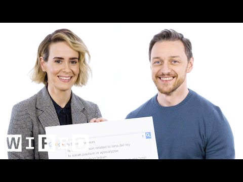 James McAvoy and Sarah Paulson Answer the Internet s Most Searched Questions About