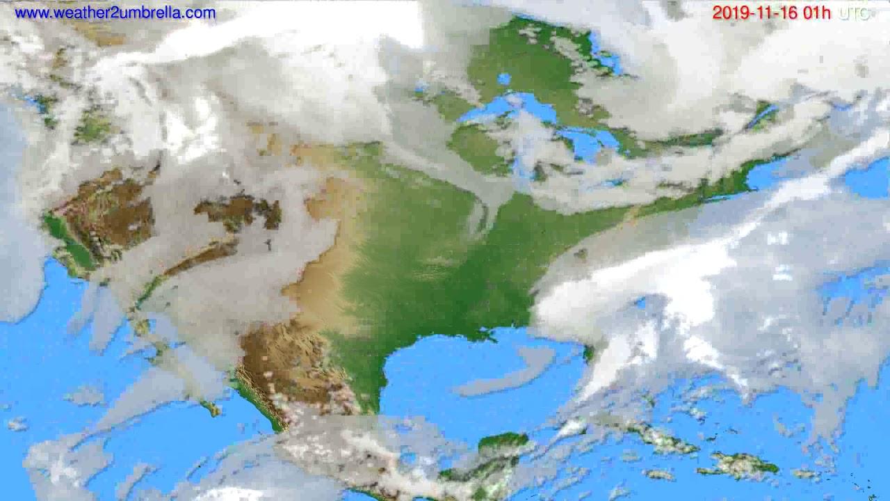 Cloud forecast USA & Canada // modelrun: 12h UTC 2019-11-14
