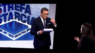 Funkcjonariusz Adamczyk broni Pawłowicz jak szalony.
