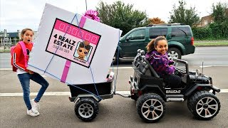 Video LOL SURPRISE DOLLS HOUSE TOY HUNT!! Power Wheels Ride On Car MP3, 3GP, MP4, WEBM, AVI, FLV Januari 2019