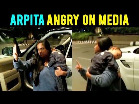 Salman Khan Sister Arpita Khan SHOUTS On Photograp