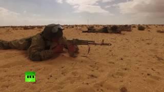 Российско-египетские антитеррористические учения: съемка с беспилотника