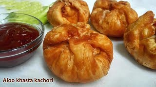 Aloo khasta kachori  Khasta Kachori with Potato Stuffing  Aloo Kachori Recipe  Khasta Kachori , Indian snack & appetizer