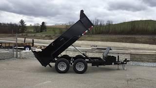 6. QSA 6x10' Low Profile Hydraulic Dump Trailer 9850# GVW QSA7210D1R-B-100