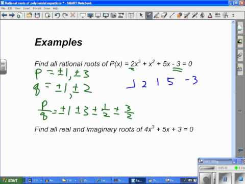 Rational roots of polynomial equations.wmv