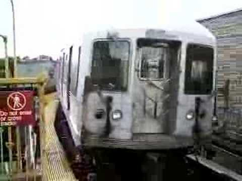 MustangFan424 - This is a video I took of a R42 M Train leaving Seneca Avenue.