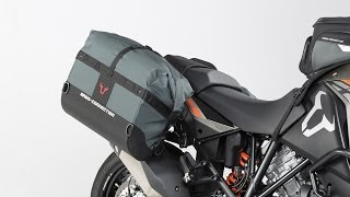 http://www.TwistedThrottle.com/DakarSaddlebags Regardless of how long you ride or how hard you ride, DAKAR panniers are ...