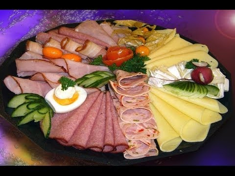 Сервировка блюд закуски фото