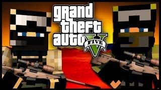 Minecraft - GTA V Mod - Grand Theft Auto 5 - AUTO-SNIPER CHALLENGE!