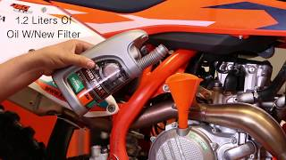 7. KTM Four-Stroke Oil Change - Cycle News