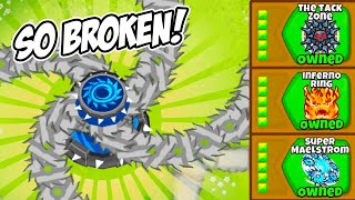 Adding The UNSTOPPABLE Tier 6 Tack Shooter Into Bloons TD6