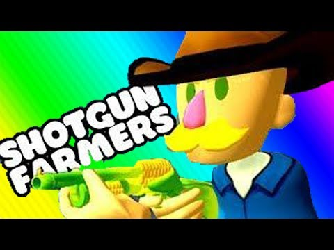 VanossGaming  Shotgun Farmers Funny Moments   Get The Chicken!