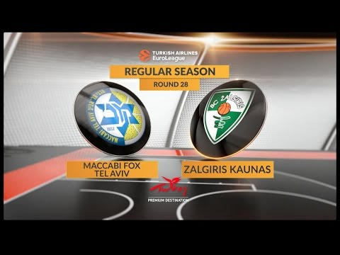 EuroLeague Highlights RS Round 28: Maccabi FOX Tel Aviv 77-93 Zalgiris Kaunas