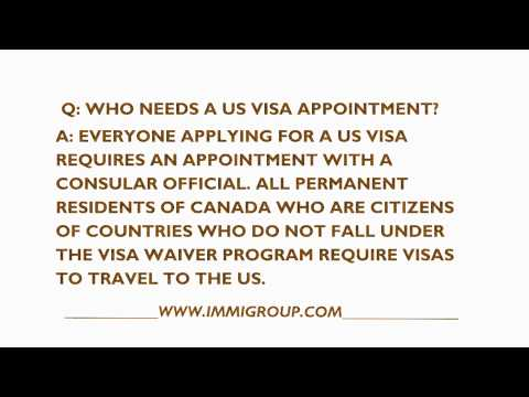 Who Needs A US Visa Appointment?
