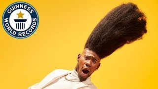 Video Tallest high top fade - Meet the Record Breakers MP3, 3GP, MP4, WEBM, AVI, FLV November 2017