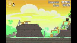 Angry Birds Seasons Go Green, Get Lucky 3 Star Walkthrough Level 9