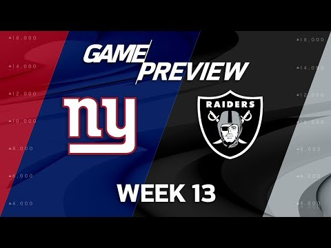 Video: New York Giants vs. Oakland Raiders | NFL Week 13 Game Preview