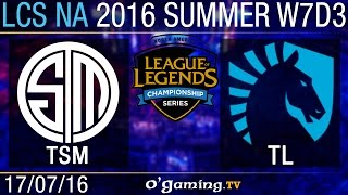 TSM vs Liquid - LCS NA Summer Split 2016 - W7D3