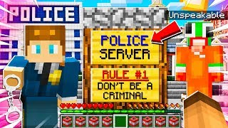 I Joined a POLICE ONLY MINECRAFT SERVER and BECAME a POLICE OFFICER!