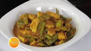 CLUSTER BEANS CHICKEN CURRY