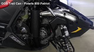 2. 2019 Polaris 850 Patriot GGB Exhaust Full Lineup Compared to Stock Under Load