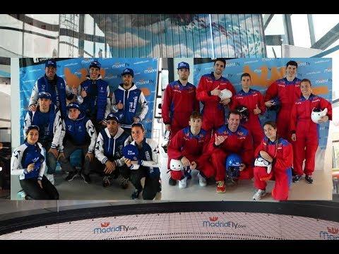 Bautismo de vuelo del Team Clavería en el túnel de viento de MadridFly