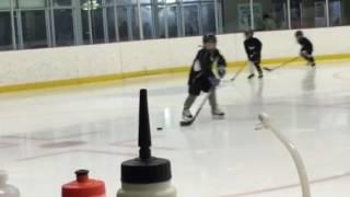 Hockey skating at camp