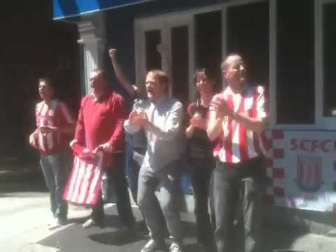 Stoke City fans at Fitzgerald's Bar, New York City