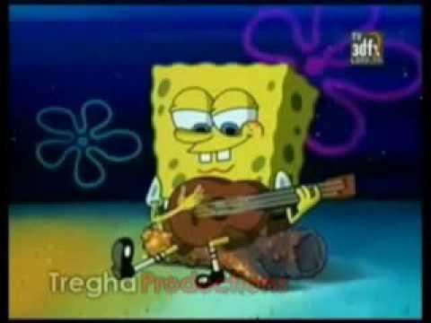 bob esponja cantando estos celos