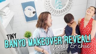 Tiny Bathroom Transformation // Makeover Winner with Zonrox Plus & Maine // by Elle Uy
