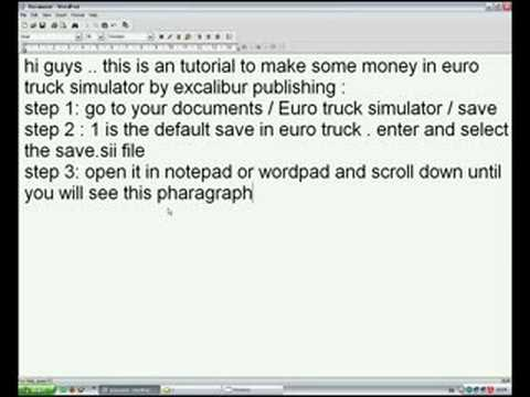 Как сделать чтобы в евро трек симулятор 2 было много денег