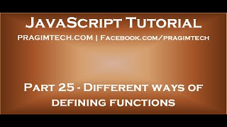 Different ways of defining functions in JavaScript