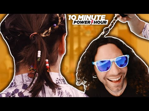 Learning to braid each other's hair in the pool! SPA DAY - Ten Minute Power Hour
