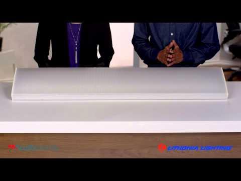 Video for LBL4 LP840 White LED Curved Wraparound Ceiling Light 4 Feet 4K Lumens