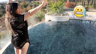 SHE JUMPED IN 5,000 POUNDS OF ICE!! (COLDEST WATER EVER)   FaZe Rug