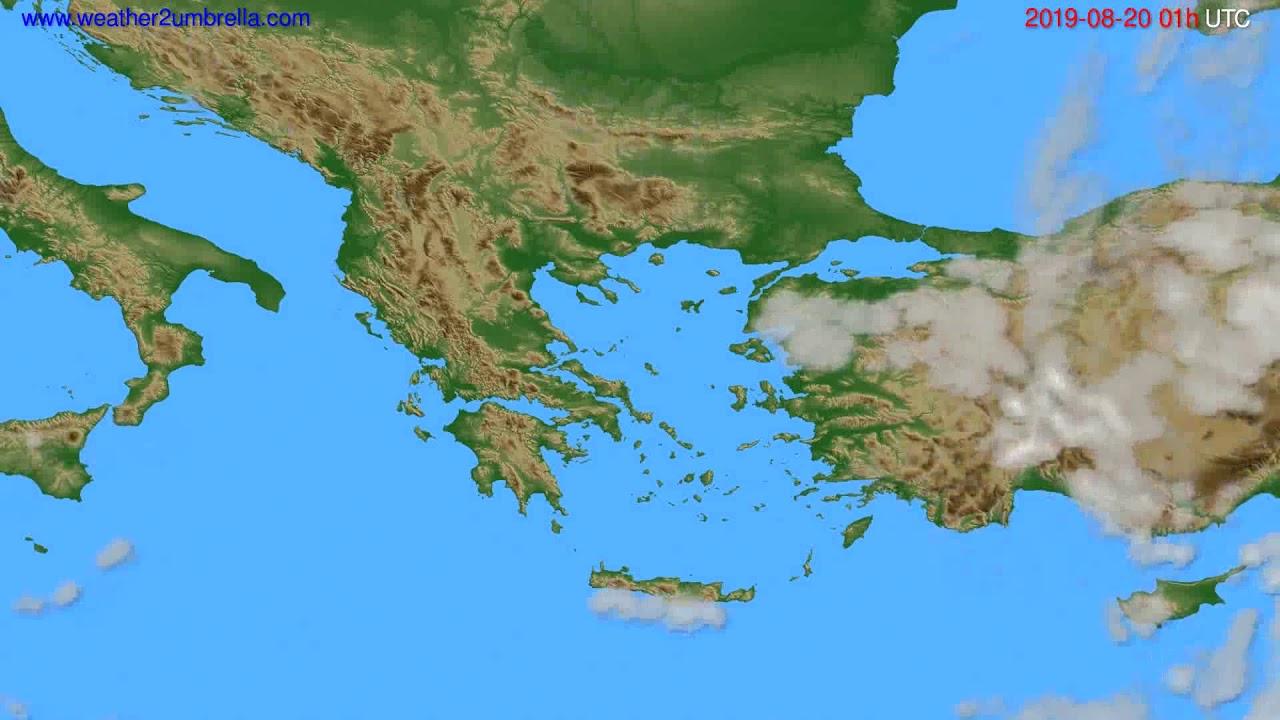 Cloud forecast Greece // modelrun: 00h UTC 2019-08-18