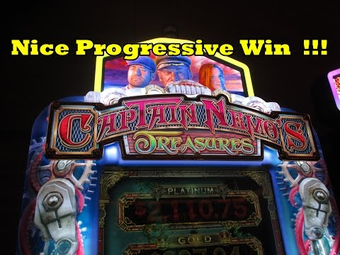 Captain Nemo's Treasures!  Nice Progressive Win!