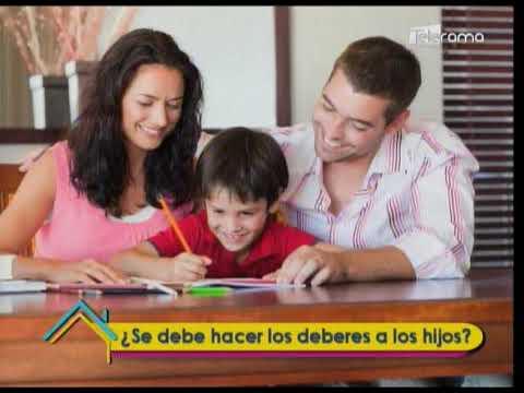 ¿Se debe hacer los deberes a los hijos?
