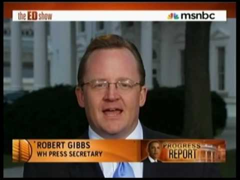 Ed Schultz Goes After Robert Gibbs on The ED Show