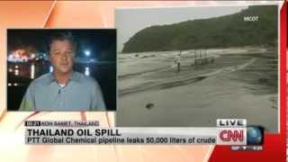 Thailand Oil Spill  Tourists Abandon Blackened Koh Samet Beach