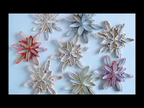 DIY: Schneeflocken aus Küchenrolle ( schnell, einfach, leicht)