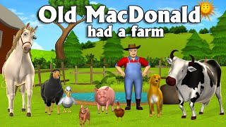 Old MacDonald Had A Farm - 3D Animation English Nursery Rhymes & Songs for children
