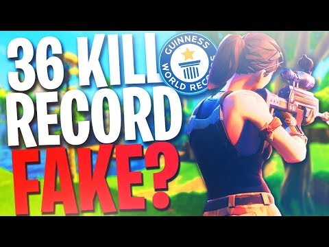 36 Kills Solo World Record! Is Fake? (fortnite Battle Royale Most Kills Solo Vs. Squad)
