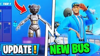 *NEW* Fortnite 10.40.1 Update! | Season 11 Skin, New Bus Driver, End Event!