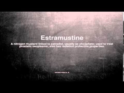Medical vocabulary: What does Estramustine mean