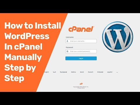 How To Install WordPress In CPanel Manually Step By Step| CPanel WordPress Installation
